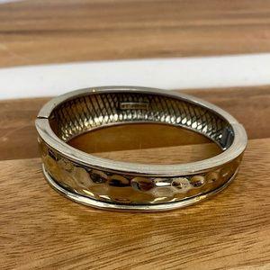 St. John Silver Bangle Cuff Bracelet